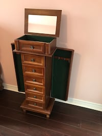 Wooden Jewelry Armoire Cabinet