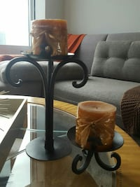 Brown Wrought Iron candlestick holders  Chicago