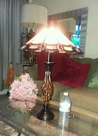 Beautiful Lamp With Stained Glass Lamp Mount Rainier, 20712
