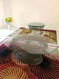 Beautiful & unusual set of Glass & metal tables  Golf, 33436