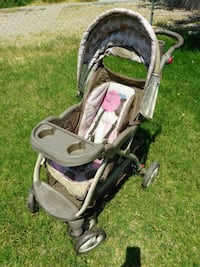 baby's gray and brown stroller Las Vegas, 89108