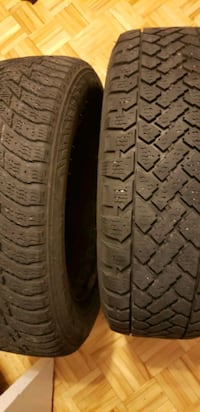 4 Winter tires with rims 250 $ Longueuil