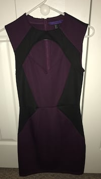 Purple and black chest cutout sleeveless dress Miami