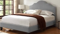 Full size grey linen bed includes matress Fresno, 93728