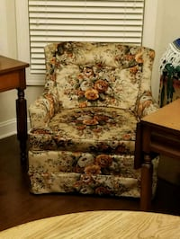 brown and white floral sofa chair Wilmington, 28405