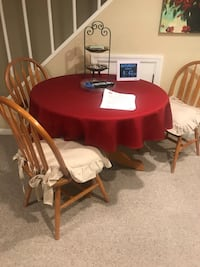 red and white wooden dining table set Arlington, 22204