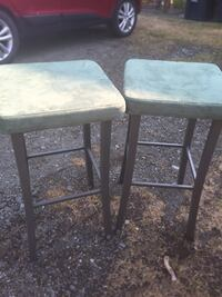 Green Suede Tall barstools