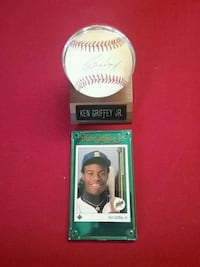 Ken Griffey jr. Rookie card and autographed baseba