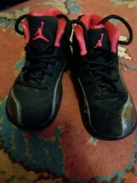 pair of toddler's black-and-red Air Jordan high-top sneakers Poughkeepsie, 12601