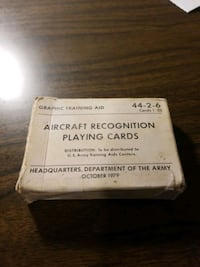 Aircraft playing cards