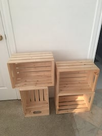 Wood crates 4 for $20 measurements 9.5x17.5x12.5 San Francisco, 94118