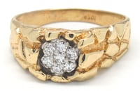 Mens Gold/Diamond Nugget Ring Norfolk