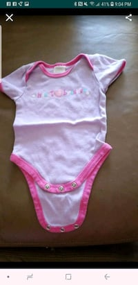baby's pink and white onesie Riverside, 92503