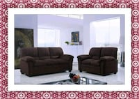 Chocolate microfiber sofa and love seat free deliv Ashburn, 20147