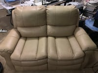 Beige leather electric reclining love seat Los Angeles, 90027