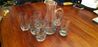 Glass set. Never used