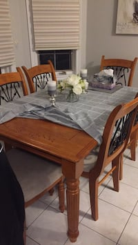 brown wooden dining table set Brampton, L6V 4L4