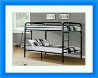 Twin bunkbed frame with 2 mattress free delivery  Gaithersburg