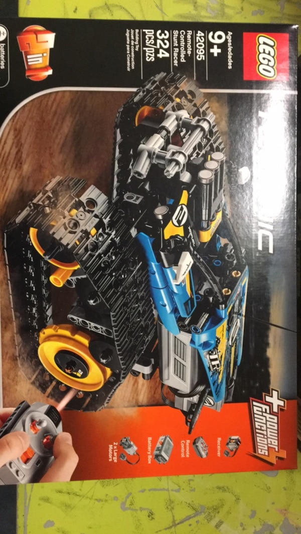 black and blue RC toy car
