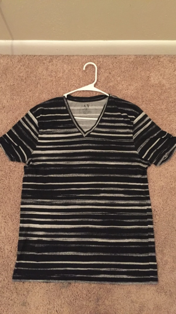 0d746cca5d71f Used Armani Exchange Black White Striped T-Shirt for sale in Roanoke - letgo