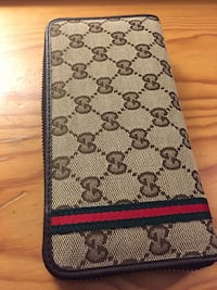 Gray monogram Gucci leather long wallet Toronto