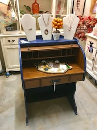 Navy Blue Roll Top Desk (Junk in the Trunk) Hull, 30646