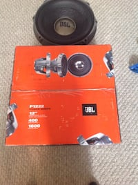 round black and gray JBL P1222 speaker subwoofer with box Winnipeg, R2P 0B6