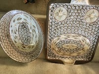 PICK UP NOW DEAL!! STEAL OF A PRICE !!! Temp-Tations by Tara Presentable Ovenware - 2 pieces Old World pattern PRICE FIRM Lawrenceville, 30043