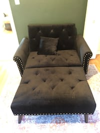 Velvet Tufted Chaise