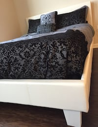white and black floral bed sheet Silver Spring