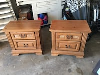 2 Wood night stand with drawer