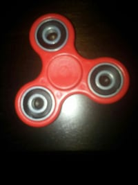 red 3-axis fidget spinner
