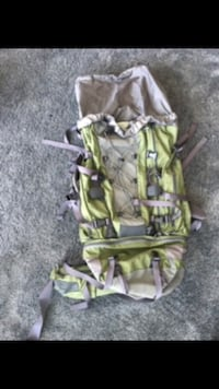 80L backpacking bag. Used once