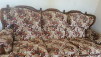 brown and pink floral fabric 3-seat sofa Sumter, 29150