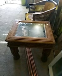 brown wooden framed glass top coffee table Gardena, 90247
