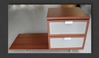 Teak finish Drawers and stand