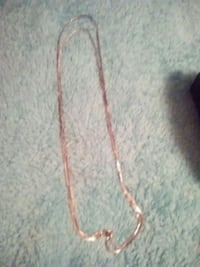 Silver double chain