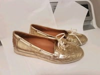 Gold boat shoes - size 10 Baton Rouge