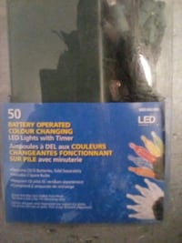 Packages of 50 Christmas lights Battery Powered with timer led colour changing lights