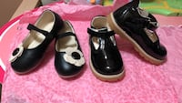 Pair of black leather shoes Freeport, 11520
