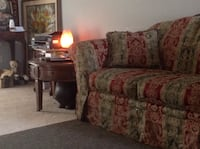 brown and red floral fabric 3-seat sofa North Charleston, 29406