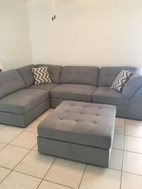 Sectional sofa with ottoman, purchased from kane's furniture, used for two years in a single person household, has been in climate controlled storage for a little over a year. great condition!