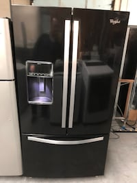 WHIRLPOOL BLACK GLOSS FRENCH DOOR FRIDGE  Charlotte, 28134