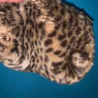FAUX FUR LEOPARD PRINT MAKEUP BAG OR PENCIL CASE Toronto, M6P 2T3