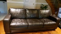 leather queen sofa bed  Brampton, L6X 4Y3