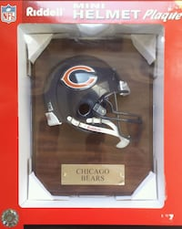 Chicago Bears Riddell Mini Football Helmet Plaque Sioux Falls, 57106