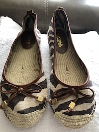 pair of brown-and-black leather flats Alexandria, 22314