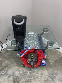 Block engine coffee table