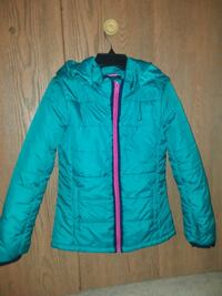 teal zip-up bubble jacket Glendale Heights, 60139
