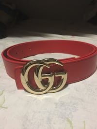 Red And Gold Gucci Belt